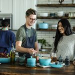 family photography ideas with cooking